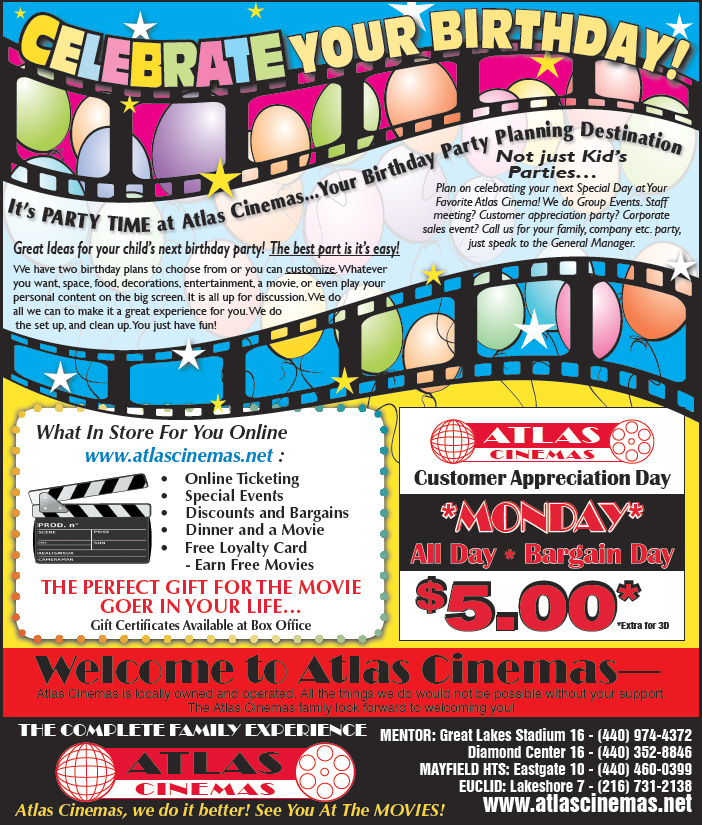 Your Birthday Party Planning Destination - Atlas Cinemas