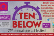 TEN BELOW - 21st annual one act festival - Fine Arts Association