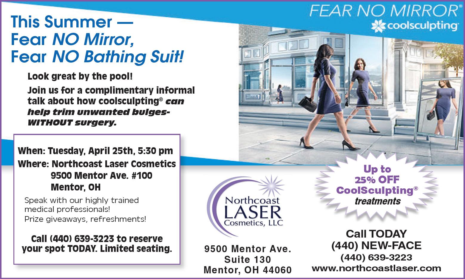 This Summer - Fear NO Mirror, Fear NO Bathing Suit! - Northcoast Laser Cosmetics, LLC