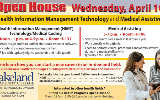 Health Information & Medical Assisting OPEN HOUSE  -  Lakeland Community College